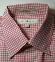 JOSEPH ABBOUD Sm Rich Pink White Gingham Plaids Checks Shirt - $63.79 CAD