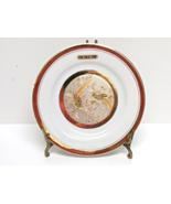 The Art of Chokin Decorative Plate 24K Gold Edged Birds Japan - $7.00