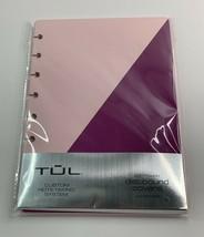 TUL Discbound Notebook Soft Covers 5.5x8.5 Pink Purple Custom Note-Takin... - $18.32