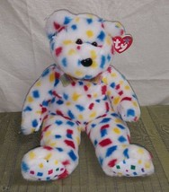 "1999 TY INC 13"" TY 2K Beanie Buddy Plush Teddy Bear COLORFUL & CLEAN - $19.15"