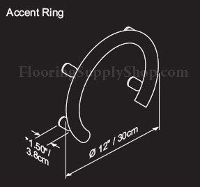 Invisia Accent Ring with Integrated Support Rail Polished Chrome