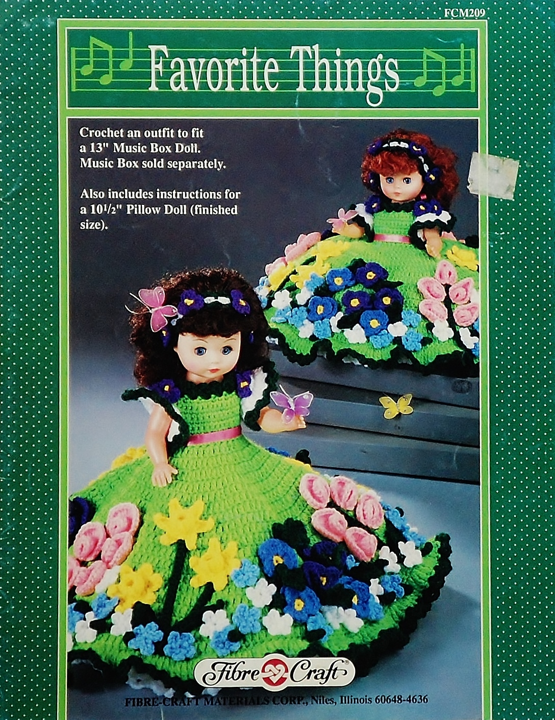 Fibre Craft Favorite Things Crochet Pattern Leaflet FCM209 1990