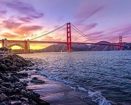 Photograph of Bridge & Mountains 8X10 New Art Color Print Ocean Picture ... - $7.95