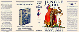 Burroughs, Edgar Rice. JUNGLE GIRL facsimile dust jacket  1st Burroughs,... - $21.56