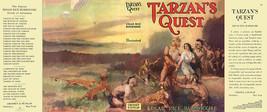 Burroughs, Edgar Rice. TARZAN'S QUEST facsimile jacket  1st Grosset & Du... - $21.56