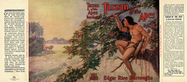 Burroughs, Edgar Rice. TARZAN OF THE APES facsimile dust jacket 1st Gros... - $21.56