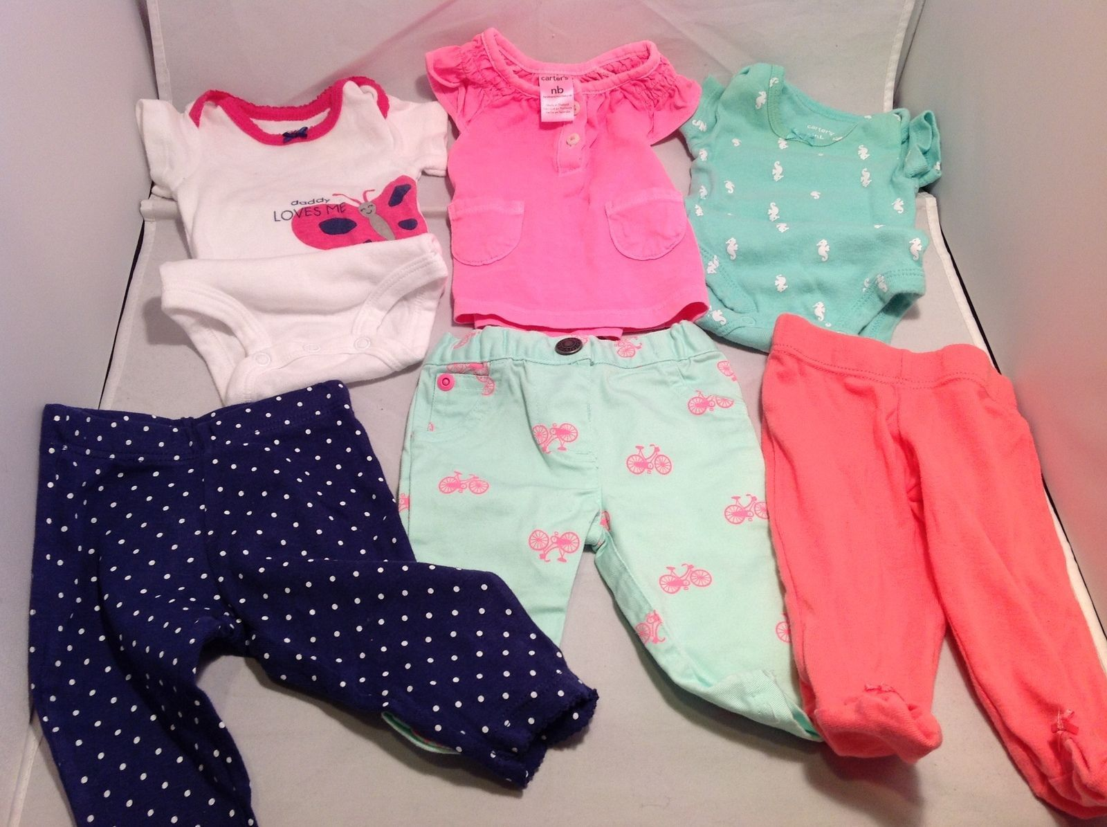 Carter's Baby Girl Outfits 3 pieces  Size Newborn