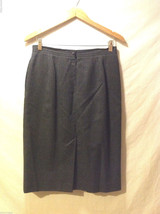 Liz Claiborne Women's Size 12 Skirt 100% Wool Dark Charcoal Gray Career Business