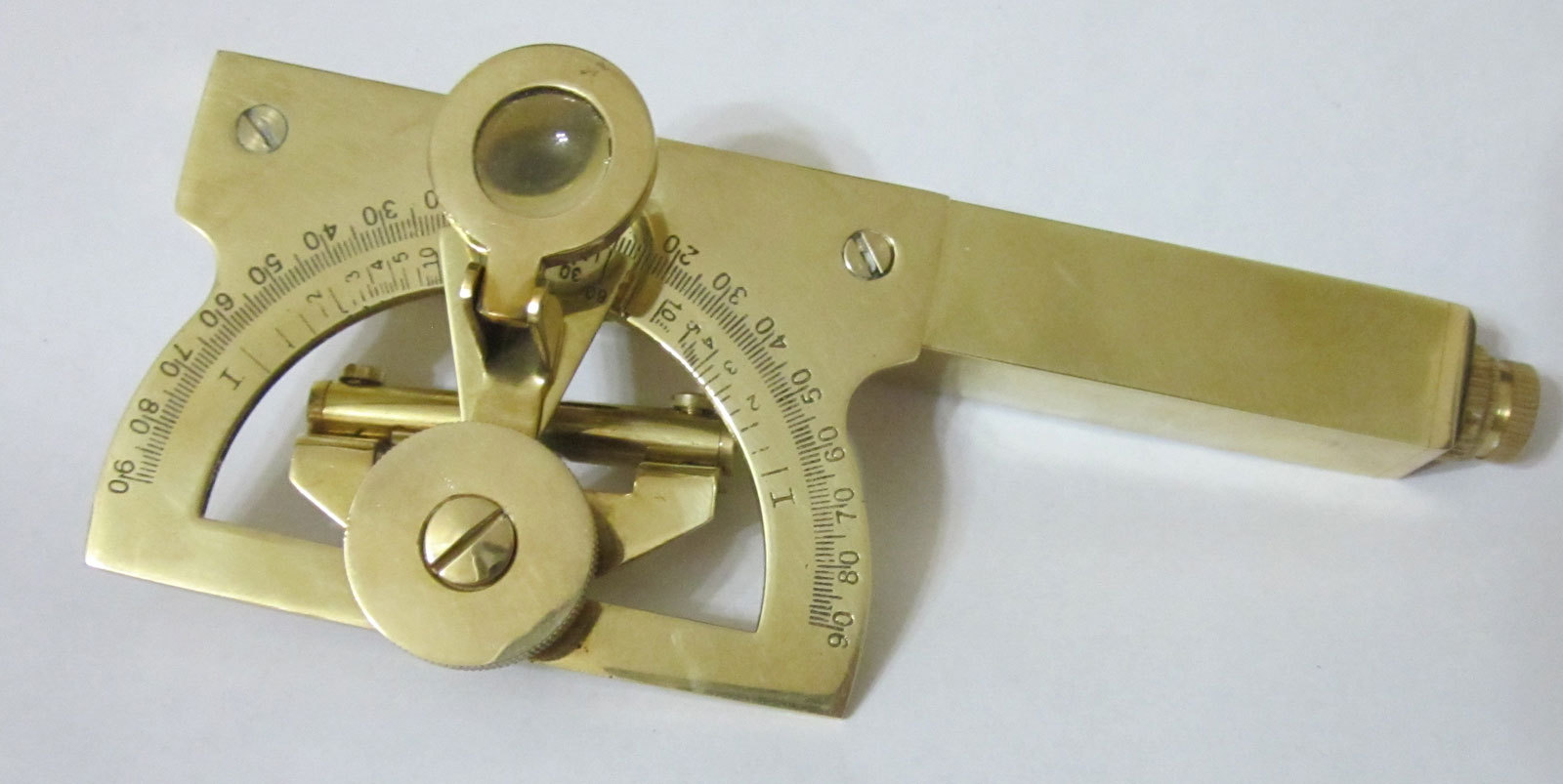 Abney Level Small Brass With Dial Lens