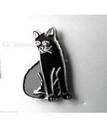 MIDNITE BOMBAY BLACK CAT KITTY LAPEL PIN BADGE ... - $4.46