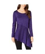 Alfani Sweater Purple Size Large L Pullover Shimmer Asymmetrical L NEW N... - $27.80