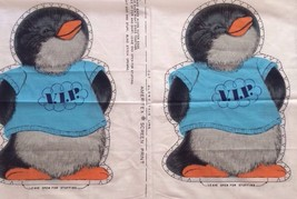 Hallmark SHIRT TALES Penguin 80s Cut & Sew Fabric Pillow 2 Panels stuffe... - $48.62