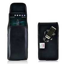 Turtleback Belt Case Made for LG V10 Black Vertical Holster Leather Pouc... - $29.99