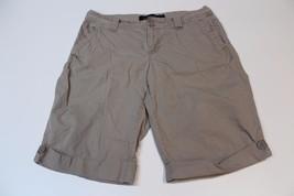 W12018 Womens Calvin Klein J EAN S 100% Cotton Khaki Walking Shorts, Cuffed, 6 - $28.97