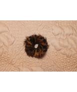 NEW CUTE STRIPED MINK FUR SOFT ELASTIC HAIR PONYTAIL HOLDER SCRUNCHIES 3... - $5.99