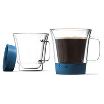 Bolio-Double Wall Glass Mug Set - Silicone Bottom For More A Better Feel... - $33.90