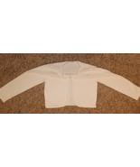 WHITE DRESSY CINDERELLA 1 HOOK CLOSURE CARDIGAN BOLERO SWEATER PEARL DET... - $11.99