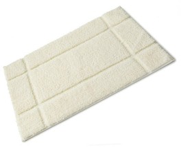 Orla Cream Full Rubber Backed Microfibre Single Bath Mat 50cm x 80cm - $35.75