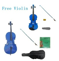 4/4 Blue Cello & Blue Bow,Bag,Strings+4/4 Blue Violin Outfit.Save for 2 ... - $270.00