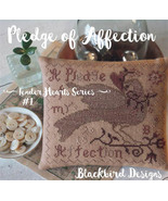 Pledge of Affection #1 Tender Heart Series cross stitch chart Blackbird ... - $9.00