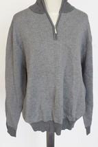 Toscano 1/2 Zip Sweater - Merino Wool-Acrylic EUC $98+ gray men's sz L -tag - $34.64