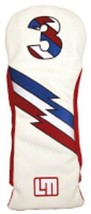 Loudmouth Winning Edge Retro Style 3 Captain USA Fairway Cover  White - $19.59