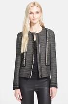 VINCE | Bouclé Jacket sz S $495 — V287690769 Tweed Fringe Trim - EUC - $267.29