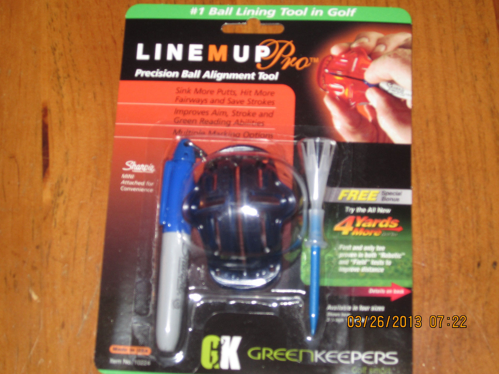 Izzo Line Up Pro Ball Lining Tool with Sharpie and Free 4 Yards for Golf Tee - $9.46