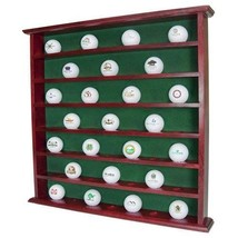 Golf Ball Cabinet 49 of Your favorite Logo balls Mahogany Stained. - $36.42