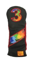 Loudmouth Winning Edge Retro 3 Fairway Cover  Paintball Black - $19.59