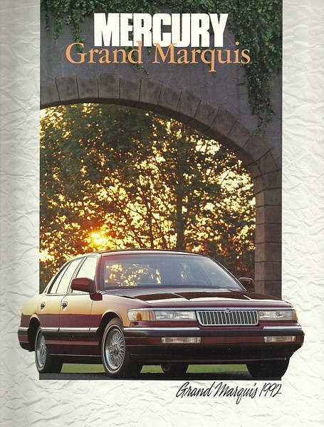 Primary image for 1991/1992 Mercury GRAND MARQUIS sales brochure catalog US 92 LS GS