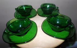 Vintage EMERALD Green VERECO France 8 piece Dep... - $25.00