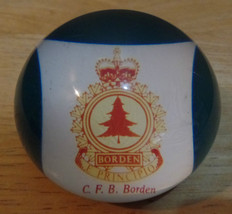 Vintage C.F.B. BORDEN Canadian Forces Logo RESIN Acrylic PAPERWEIGHT - $14.00