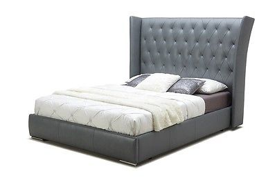 DONOVAN King Size Platform Bed Contemporary Modern Tufted Style