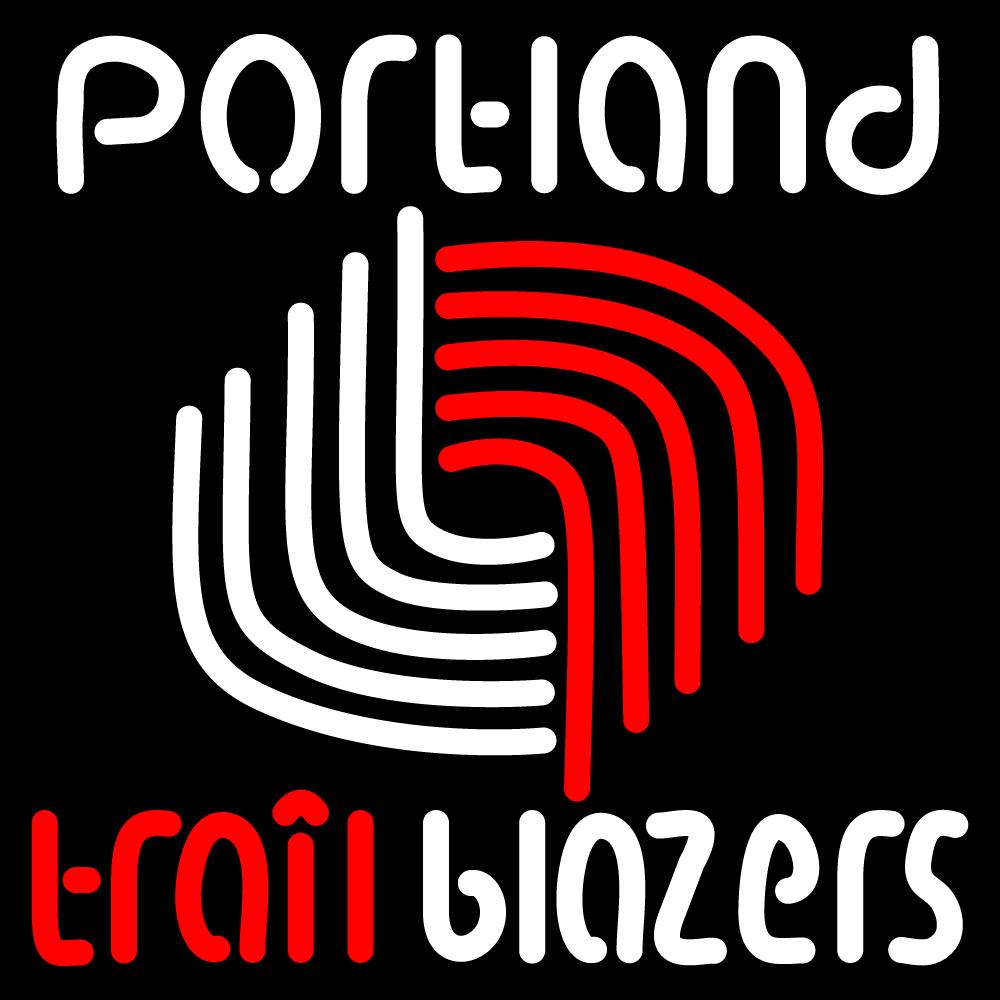 NBA Portland Trail Blazers Neon Sign