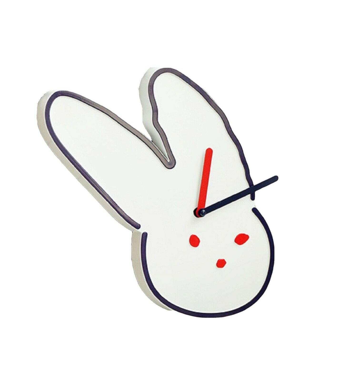 Brunch Brother Wall Clock Non-Ticking Silent Decorative Modern Clock (Rabbit)