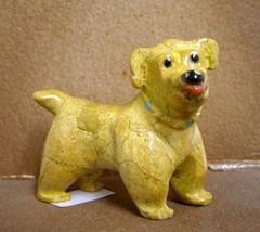 Zuni Carved Puppy Dog Fetish Sculpture by Freddie Leekya - $215.00