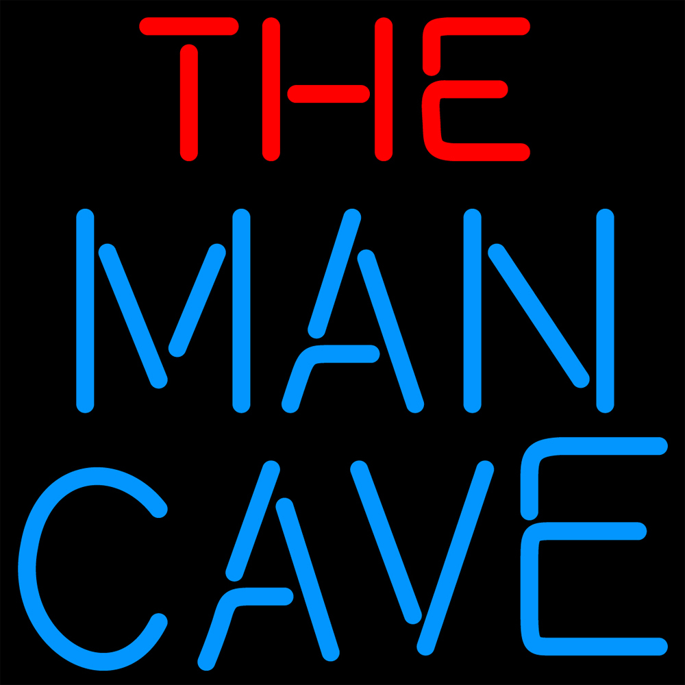 Man Cave Lighted Signs : Red and blue the man cave neon sign