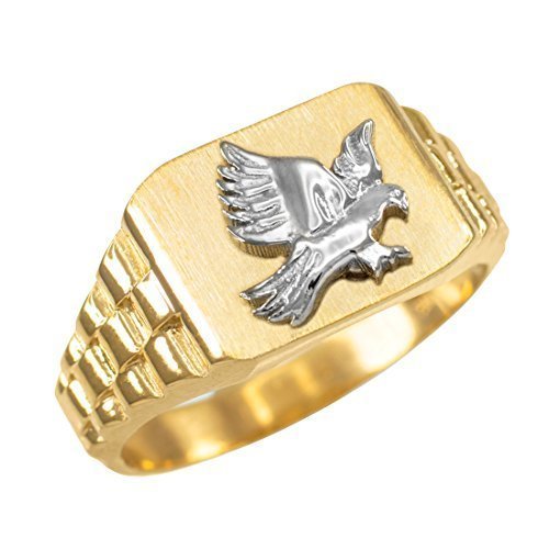Primary image for 14K Gold American Eagle Men's Ring (size 10.5)