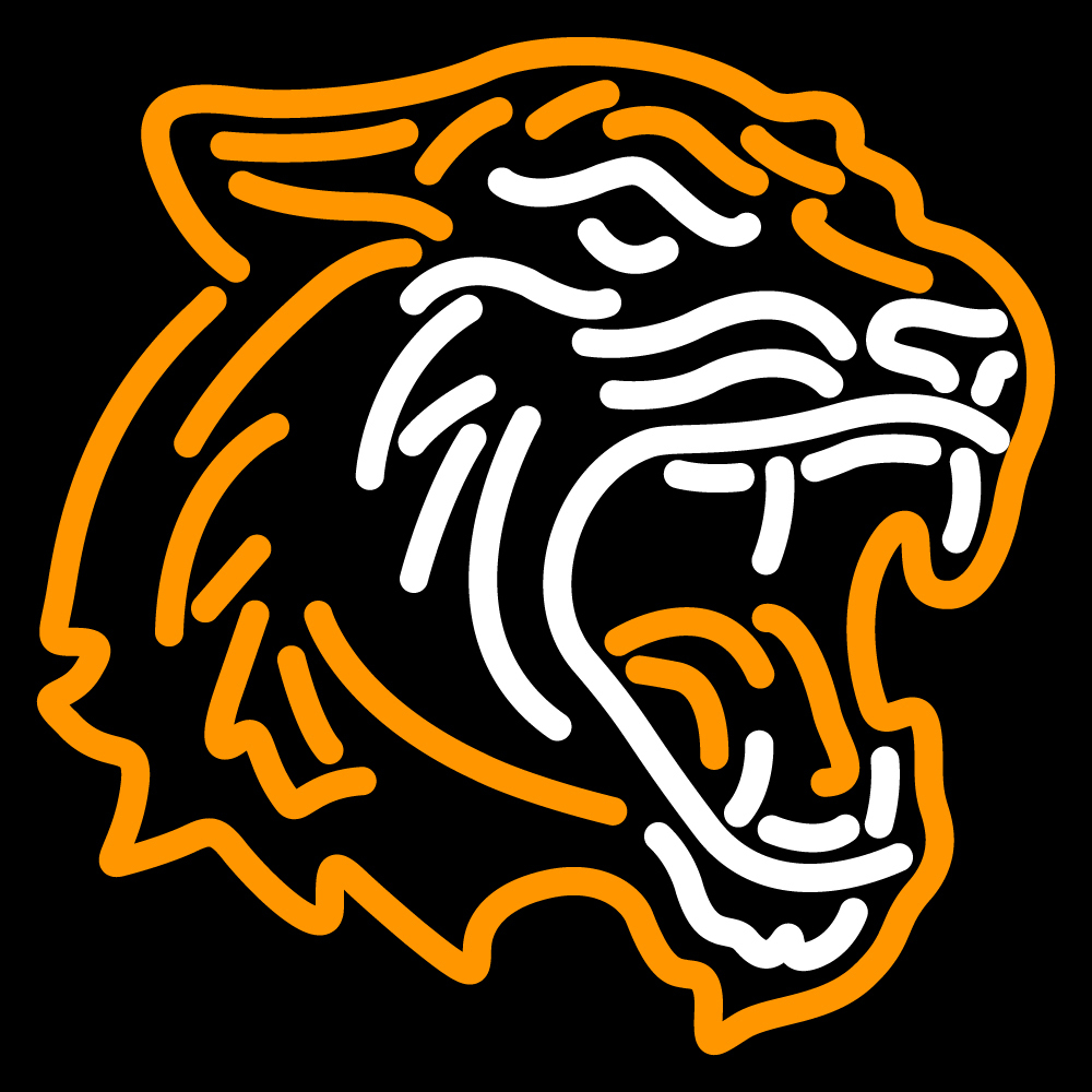 NCAA Rit Tigers Logo Neon Sign
