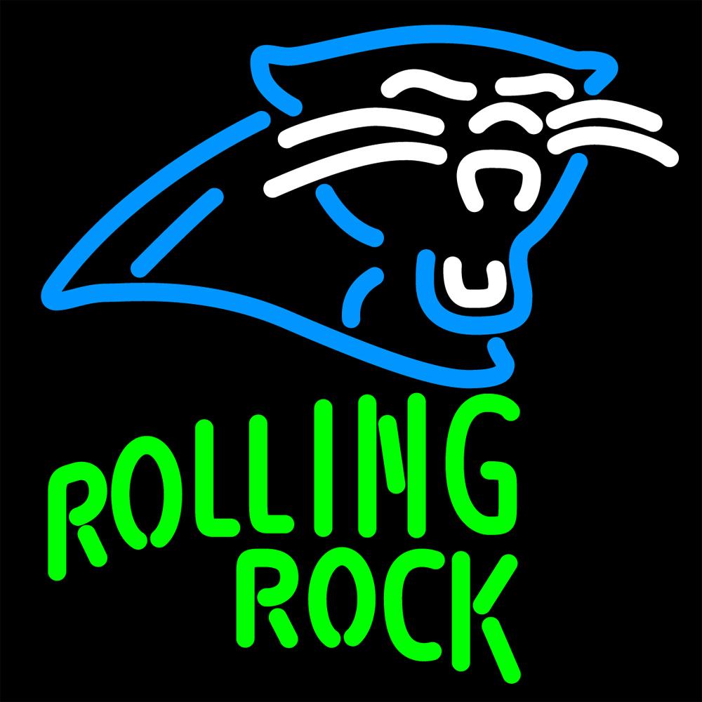NFL Rolling Rock Carolina Panthers Neon Sign - Neon