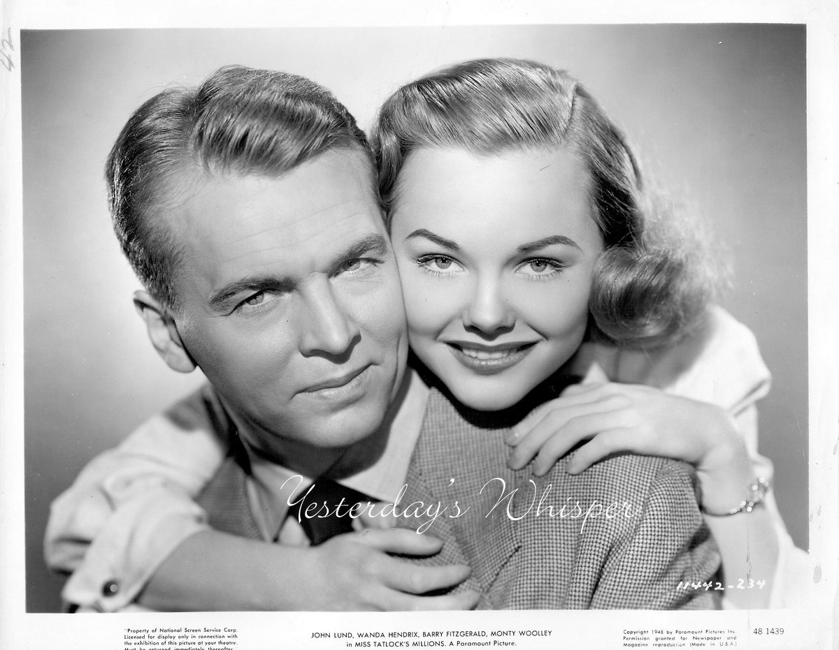 Wanda HENDRIX John LUND Miss TATLOCK'S Millions Original 1948 Movie Photo