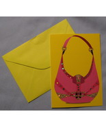 Marcel Schurman All Occasion Glam Purse Note Cards 12 Pink blank bling h... - $9.77