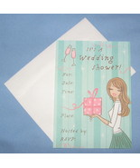 Marcel Schurman Wedding Shower set 10 Invitation note cards whimsical D - $8.77