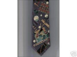 Expressions Neck Tie brown Golf clubs bag tee ball Silk necktie golfer gift - $19.77