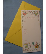 Papyrus Birthday Party Invitations 10 note cards yellow whimsical adult ... - $11.77
