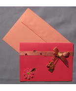 Papyrus All Occasion Pink 6 blank note cards embellished shoe purse charm B - $17.77