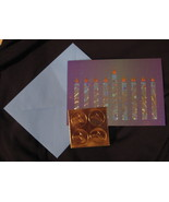 Papyrus Chanukah  Holiday 14 greeting Cards blue gold lighted flicker Ca... - $14.77