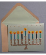Papyrus Chanukah Holiday  8 blue greeting Cards lighted silver 3-D Menor... - $19.77