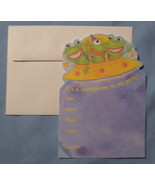 Marcel Schurman Alien Frogs Party Invitations 10 cards space ship all oc... - $5.77
